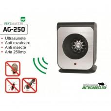 Aparat cu ultrasunete impotriva capuselor, rozatoarelor si insectelor taratoare Pestmaster AG250