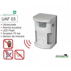 Bird Ultrasound Repeller Pestmaster UAF03 anti pasari, anti rozatoare, anti animale 70mp