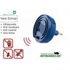 Aparat cu ultrasunete anti rozatoare, insecte taratoare si zburatoare - Pestmaster Vario Schutz