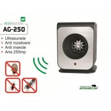 Aparat cu ultrasunete impotriva soarecilor, gandacilor si altor insecte - Pestmaster AG250