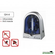 Aparat anti insecte cu lampa UV( 1x4W) si ventilator GH-4( 50 mp)