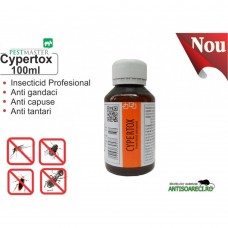 Insecticid profesional impotriva gandacilor, puricilor, mustelor, tantarilor - Cypertox 100ml