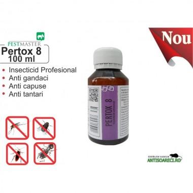 Insecticid universal impotriva mustelor, tantarilor, gandacilor, etc. - Pertox 8 100ml